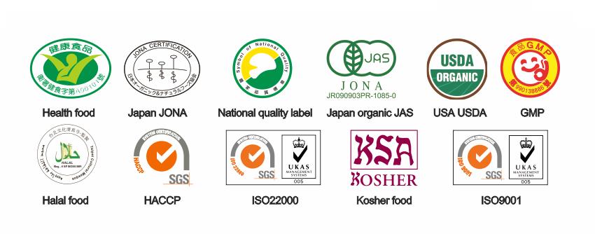 taiwan chlorella manufacturing certificados