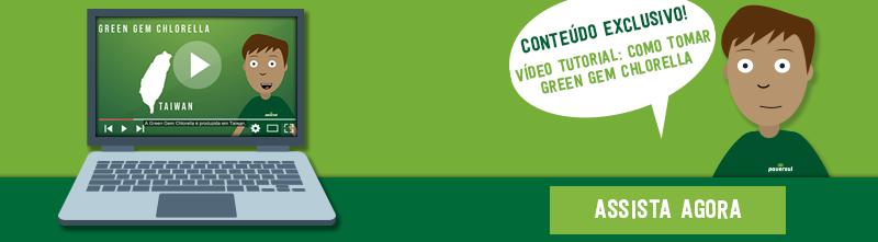 Vídeo Tutorial como tomar Green Gem Chlorella